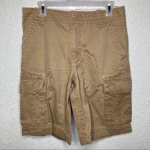 Aeropostale Mens Shorts Size 29 Khaki Cargo